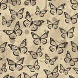 Vector seamless pattern design with butterflies Royalty Free Stock Image