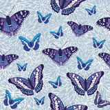 Vector seamless pattern design with butterflies Royalty Free Stock Photography
