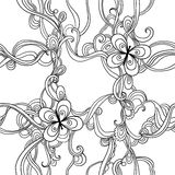 Vector seamless pattern design with butterflies Stock Image