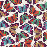 Vector seamless pattern design with butterflies Royalty Free Stock Images
