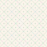 Vector seamless pattern with diagonal square grid, stars. Aqua green background. Geometric seamless pattern with diagonal square grid, rounded shapes, stars Vector Illustration