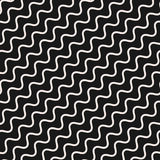 Vector seamless pattern, diagonal wavy lines, stripes Stock Images