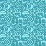 Vector seamless pattern with diamond icons Stock Photography