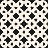 Vector seamless pattern with diamond shapes, big and small curved rhombuses royalty free illustration
