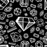 Vector seamless pattern with diamonds Stock Photos