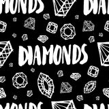 Vector seamless pattern with diamonds Royalty Free Stock Photography