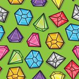 Vector seamless pattern of diamonds Royalty Free Stock Images