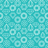 Vector seamless pattern with diamonds Royalty Free Stock Images