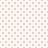 Vector seamless pattern with diamonds, stars, rhombuses. Subtle pastel colors. Vector abstract floral seamless pattern. Diamond grid ornament. Subtle beige and royalty free illustration