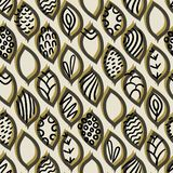 Vector seamless pattern with different abstract leaves royalty free illustration