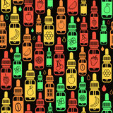 Vector seamless pattern of different flavor e-liquid Royalty Free Stock Images