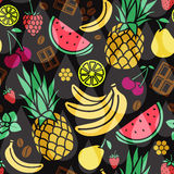 Vector seamless pattern of different flavor Royalty Free Stock Photo