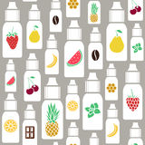 Vector  seamless pattern of different flavor Royalty Free Stock Images