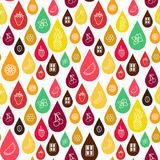 Vector  seamless pattern of different flavor. Royalty Free Stock Image