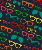 Vector seamless pattern with different shapes glasses. Royalty Free Stock Photography