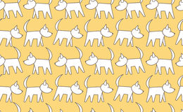 Vector seamless pattern dog walking Doodle style royalty free stock image