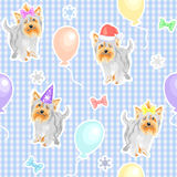vector Seamless pattern with dogs Stock Images
