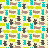 Vector seamless pattern with dogs Royalty Free Stock Photos