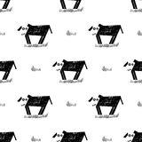 Vector seamless pattern with dogs or puppies Stock Photos