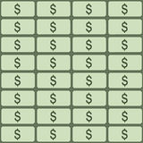 Vector seamless pattern of dollars. Abstract background. Stock Images