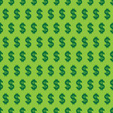 Vector seamless pattern of dollars. Royalty Free Stock Image