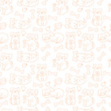 Vector seamless pattern with doodle dogs Royalty Free Stock Photography