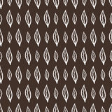 Vector seamless pattern with doodle leaves Stock Photography