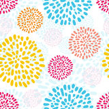 Vector seamless pattern with doodled peny flowers Stock Photography