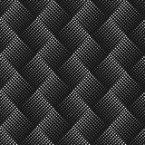 Vector seamless pattern with dots. Abstract ornamental background. Endless stylish texture. Optical illusion 3D. Modern stylish ab Stock Photos