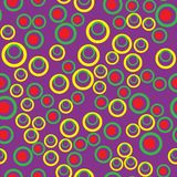 Vector seamless pattern with dots and round shapes. Abstract background Colorful hand drawn. Pattern Royalty Free Stock Images