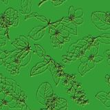 Vector seamless pattern with drawing flowers Royalty Free Stock Photography