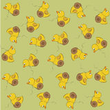 Vector seamless pattern with duck toy Stock Photo