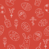 Vector seamless pattern with Easter celebration elements Royalty Free Stock Image