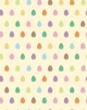Vector seamless pattern of Easter eggs, blurred ef Stock Photography