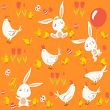 Vector seamless pattern for easter and spring royalty free illustration