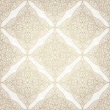 Vector seamless pattern in Eastern style. Stock Images