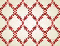 Vector seamless pattern in Eastern style. Red element for design. Ornamental lace tracery on light background. Ornate floral decor for wallpaper. Endless Royalty Free Stock Photo
