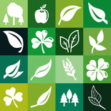Vector seamless pattern with ecology signs Stock Image