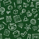 Vector seamless pattern with education icons Stock Image