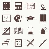 Vector seamless pattern with education icons - abstract Stock Photography