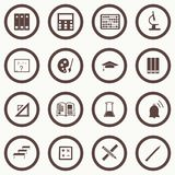Vector seamless pattern with education icons - abstract Royalty Free Stock Photography