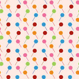 Vector seamless pattern with elements of candy (lollipop) Stock Photos