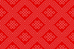 Vector Seamless Pattern. Embroidered Ethnic Seamless Pattern in Eastern Style Royalty Free Stock Images