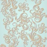 Vector seamless pattern with engraved ornament Stock Images