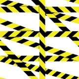 Vector seamless pattern: Entrance prohibited background seamless yellow warning caution ribbon tape vector on white background Stock Photo