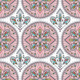 Vector seamless pattern with ethnic arrows, feathers and tribal ornaments. Boho and hippie background. American indian mot Royalty Free Stock Image