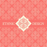 Vector seamless pattern with ethnic regular ornament Royalty Free Stock Photo