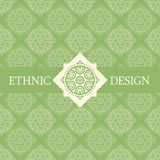 Vector seamless pattern with ethnic regular ornament Stock Photography