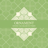 Vector seamless pattern with ethnic regular ornament Royalty Free Stock Photography
