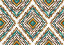 Vector seamless pattern with ethnic tribal ornamental rhombuses . Boho and hippie stylish background. Royalty Free Stock Photography